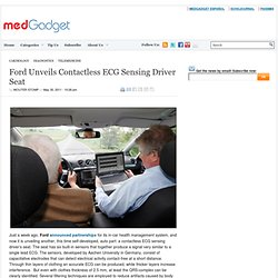 Ford Unveils Contactless ECG
