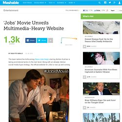 'Jobs' Movie Unveils Multimedia-Heavy Website