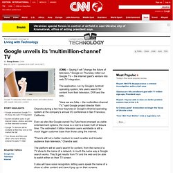 unveils its 'multimillion-channel' TV