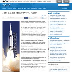 Nasa unveils most powerful rocket