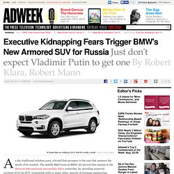 BMW Unveils an AK-47-proof SUV at the Moscow Auto Show