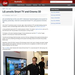 LG unveils Smart TV and Cinema 3D - LCD TVs