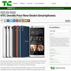 HTC Unveils Four New Desire Smartphones