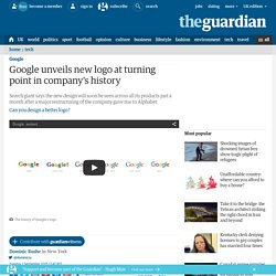 Google unveils new logo at turning point in company's history