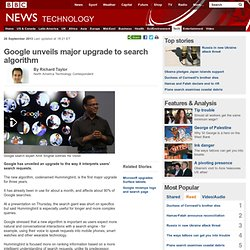 Google unveils major upgrade to search algorithm