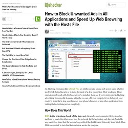 How to Block Unwanted Ads in All Applications and Speed Up Web Browsing with the Hosts File