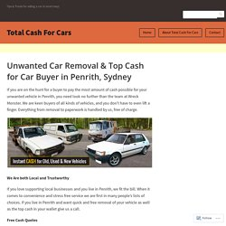Unwanted Car Removal & Top Cash for Car Buyer in Penrith, Sydney – Total Cash For Cars