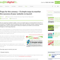 Traps for the unwary - 5 simple ways to monitor the success of your website re-launch