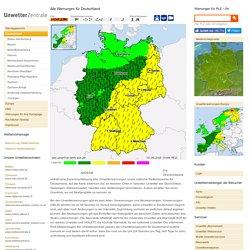 Unwetterzentrale Deutschland - Alle Warnungen