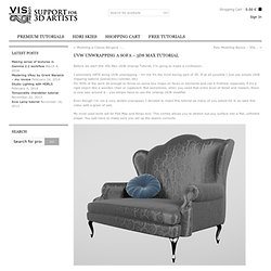 UVW Unwrapping a Sofa - 3Ds Max Tutorial - VISCORBEL