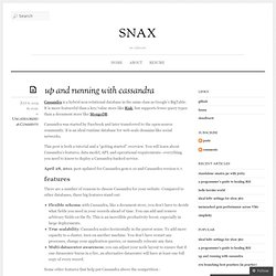 up and running with cassandra :: snax