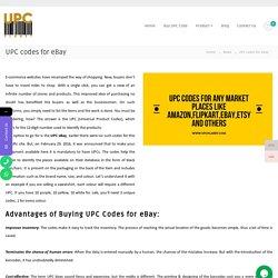 UPC codes for eBay » UPC CODE FOR AMAZON