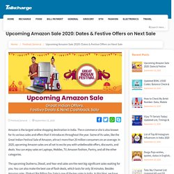 Upcoming Amazon Sale 2020: Dates & Offers