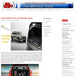 Upcoming Best Cars with Big Boot Space