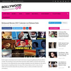New Upcoming Bollywood Movies 2021 List with Update Release Dates