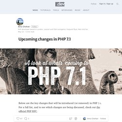 Upcoming changes in PHP 7.1 — dotdev