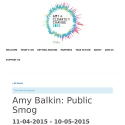 Upcoming Events – Amy Balkin: Public Smog – Art+Climate=Change