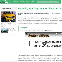 Upcoming Tata Tiago NRG Facelift Spied Testing
