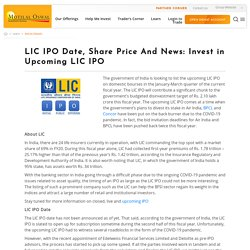 LIC IPO Date, Share Price And News: Invest in Upcoming LIC IPO - Motilal Oswal
