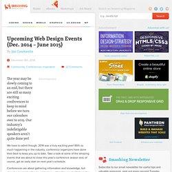 Upcoming Web Design Events (Dec. 2014 – June 2015)
