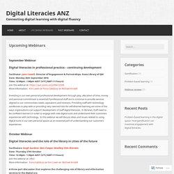 Upcoming Webinars – Digital Literacies ANZ