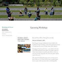 Upcoming Workshops — The Writing Ranch