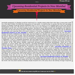Upcoming Properties In Mumbai Thane