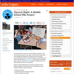 Upcycle Night: A Middle School PBL Project