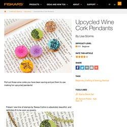 Upcycled Wine Cork Pendants