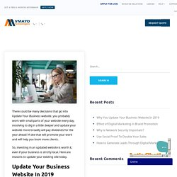 Why You Update Your Business Website In 2019 - Vmayo