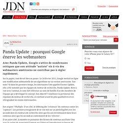 Panda Update : pourquoi Google énerve les webmasters