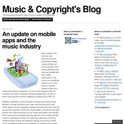 An update on mobile apps and the music industry « Music & Copyright's Blog