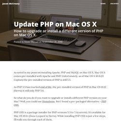 Update PHP on Mac OS X