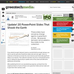 Update! 15 PowerPoint Slides That Shook the Earth : Greentech Media