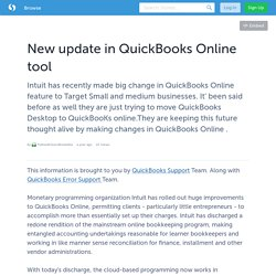 New update in QuickBooks Online tool