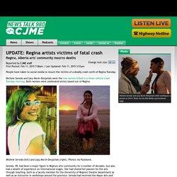 UPDATE: Regina artists victims of fatal crash