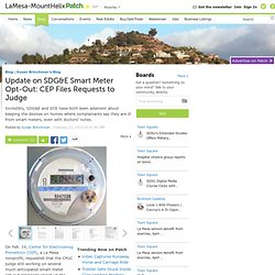Update on SDG&E Smart Meter Opt-Out: CEP Files Requests to Judge - La Mesa