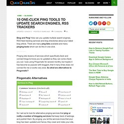 10 One-Click Ping Tools to Update Search Engines, RSS Trackers