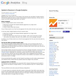 Update to Sessions in Google Analytics