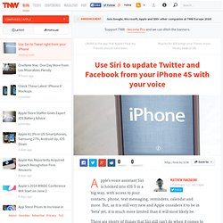 Use Siri to update Twitter and Facebook from your iPhone 4S with your voice