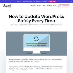 How to Update WordPress Safely Every Time
