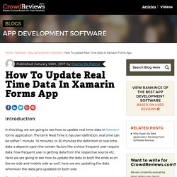How To Update Real Time Data In Xamarin Forms App - CrowdReviews.com Blog