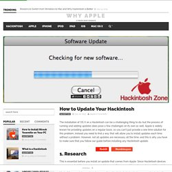 How to Update Your Hackintosh - Why Apple