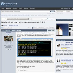[Updated 31 Jan 13] SystemCompute v0.5.7.2