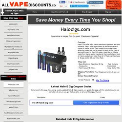 Weekly Updated Halo E cigs Coupon Codes Upto 50% AllVapeDiscounts