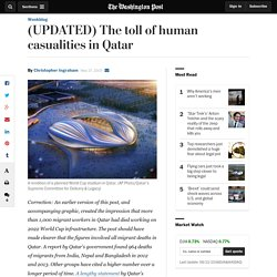 (UPDATED) The toll of human casualities in Qatar