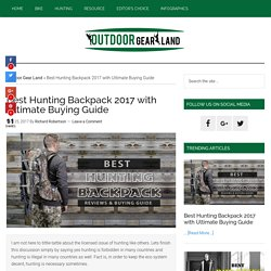 [Updated] Best Hunting Backpack 2017