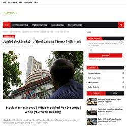 Updated Stock Market