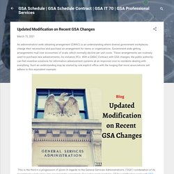 Updated Modification on Recent GSA Changes