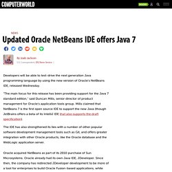 Updated Oracle NetBeans IDE offers Java 7